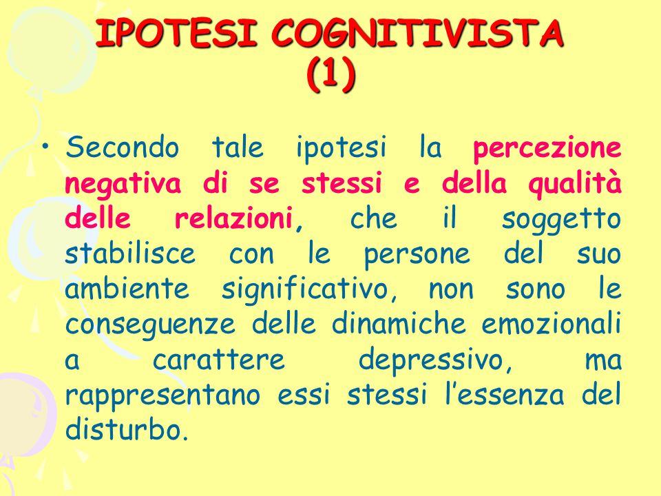 IPOTESI COGNITIVISTA (1)