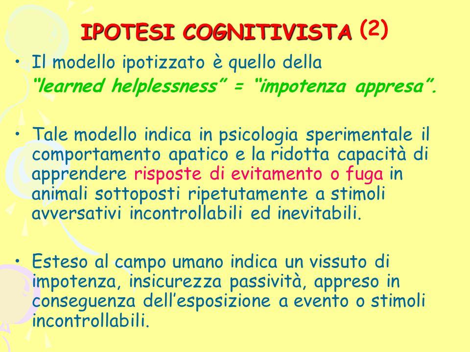 (2) IPOTESI COGNITIVISTA
