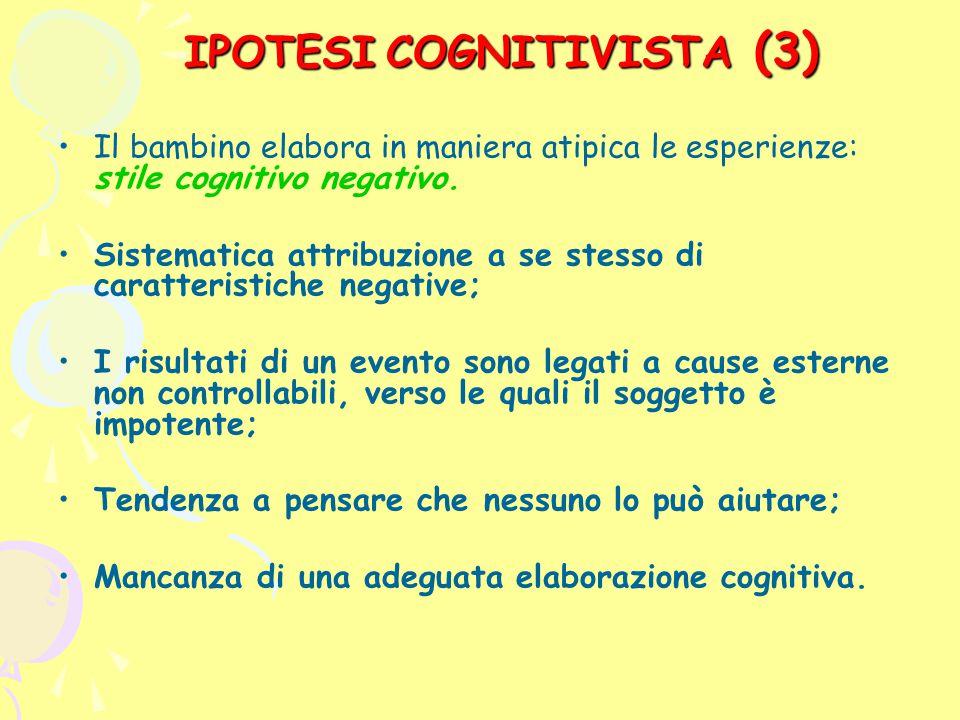 (3) IPOTESI COGNITIVISTA