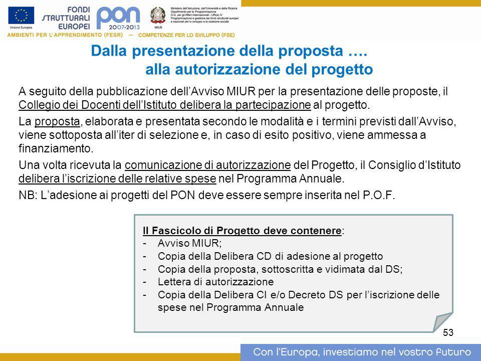 Dalla presentazione della proposta …. alla autorizzazione del progetto