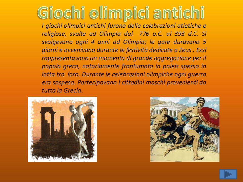 Giochi olimpici antichi