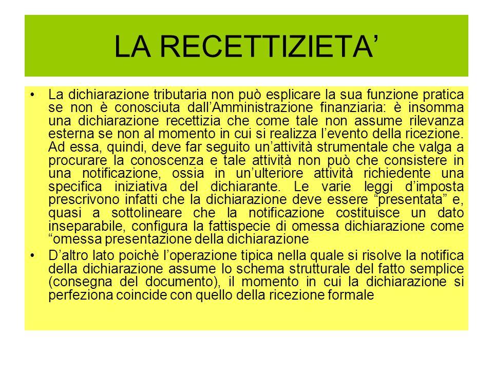 LA RECETTIZIETA'