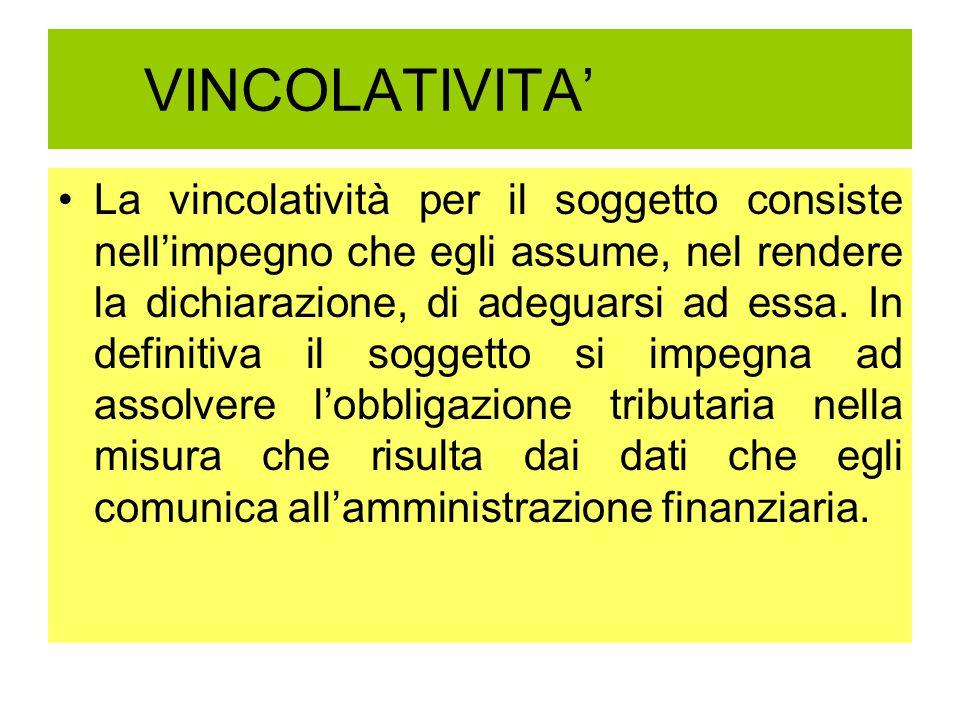 VINCOLATIVITA'
