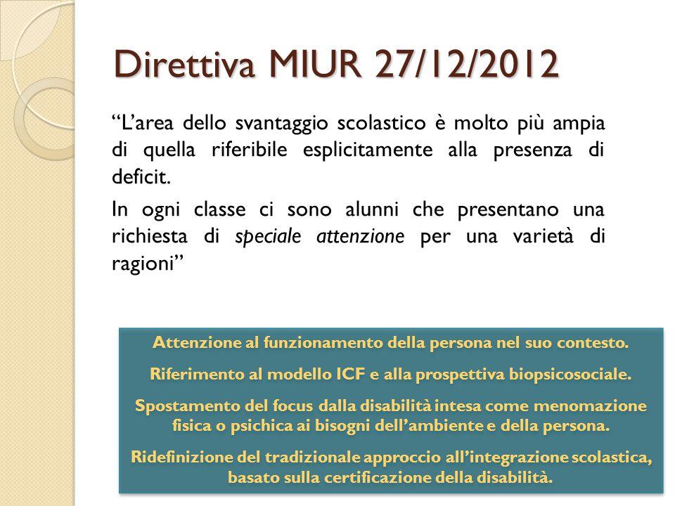 Direttiva MIUR 27/12/2012