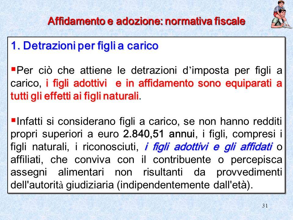 Affidamento e adozione: normativa fiscale