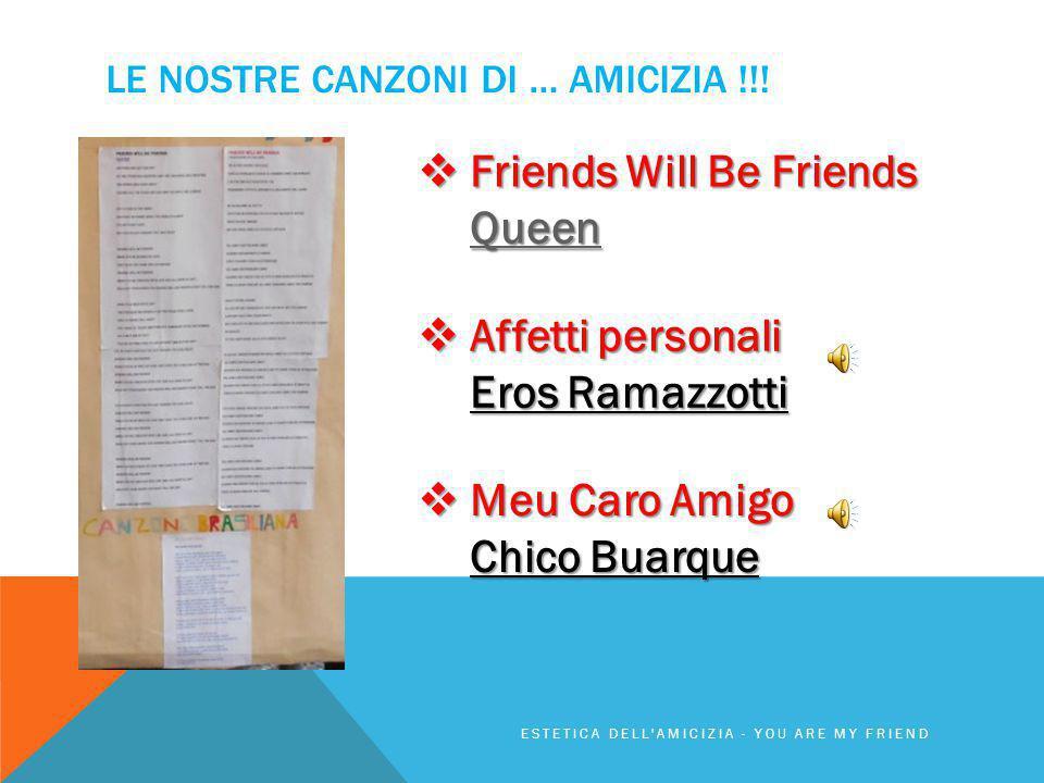 LE nostrE canzoni di … amicizia !!!