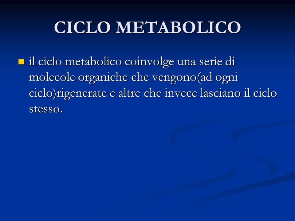 CICLO METABOLICO