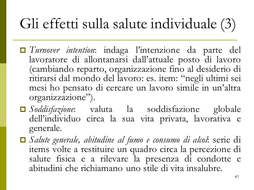 Gli effetti sulla salute individuale (3)