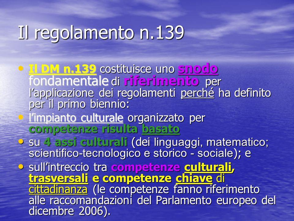 Il regolamento n.139