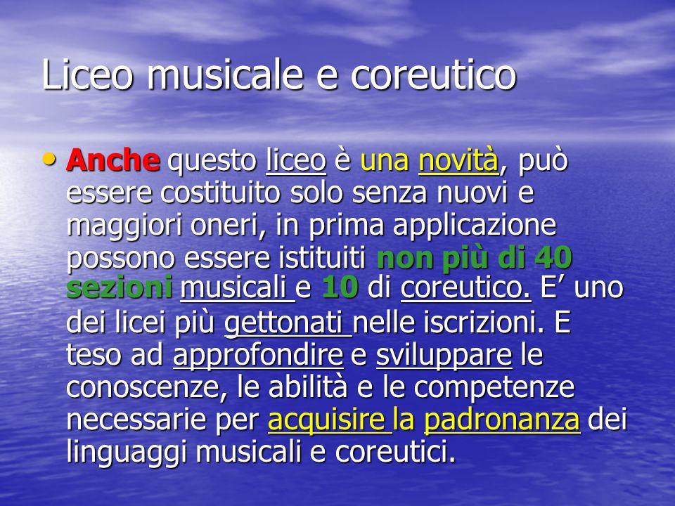 Liceo musicale e coreutico