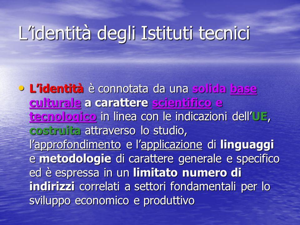 L'identità degli Istituti tecnici