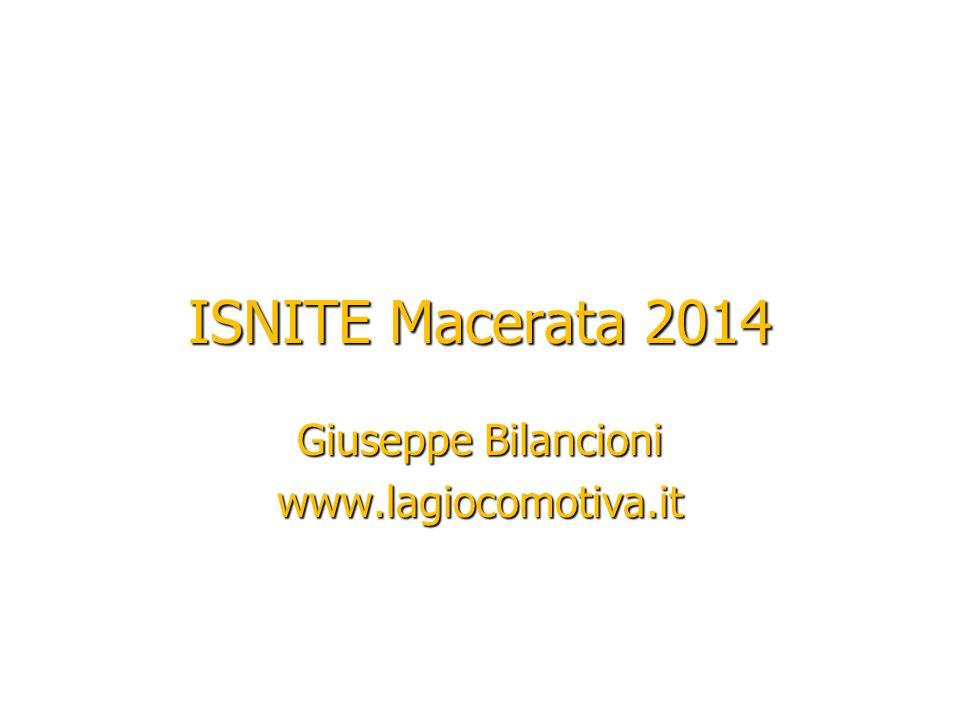 Giuseppe Bilancioni www.lagiocomotiva.it