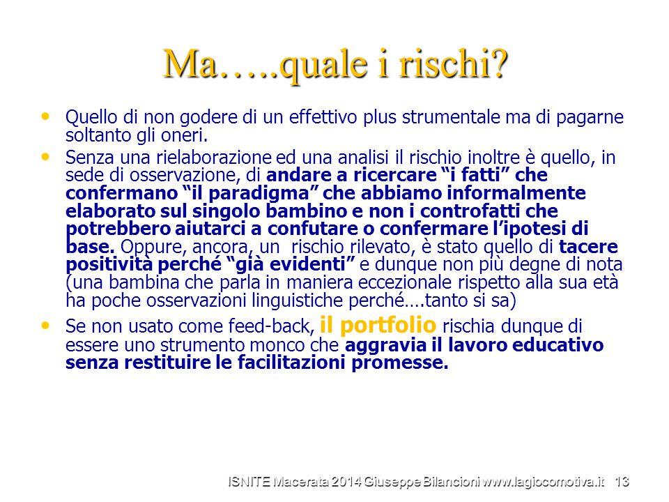ISNITE Macerata 2014 Giuseppe Bilancioni www.lagiocomotiva.it