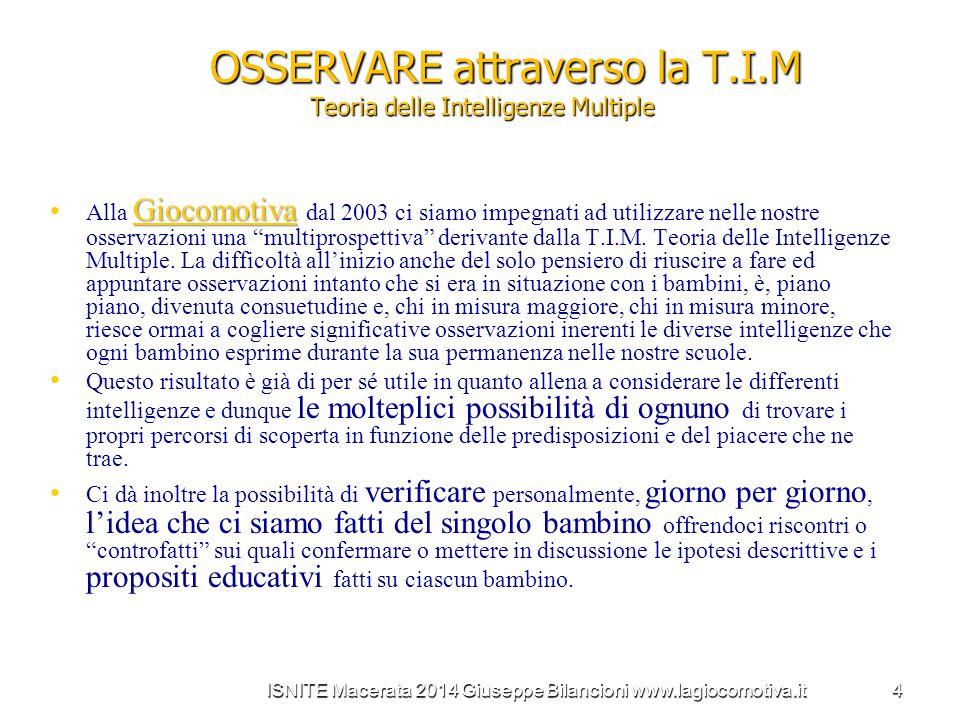 OSSERVARE attraverso la T.I.M Teoria delle Intelligenze Multiple
