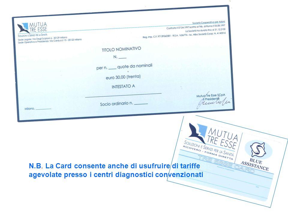 N.B. La Card consente anche di usufruire di tariffe