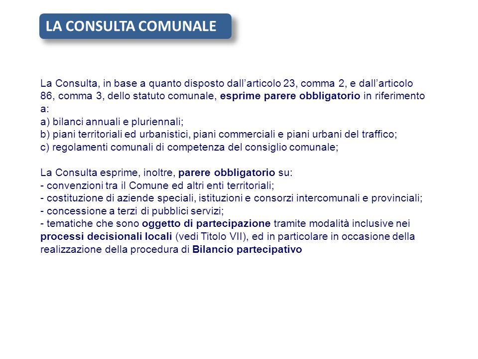 LA CONSULTA COMUNALE