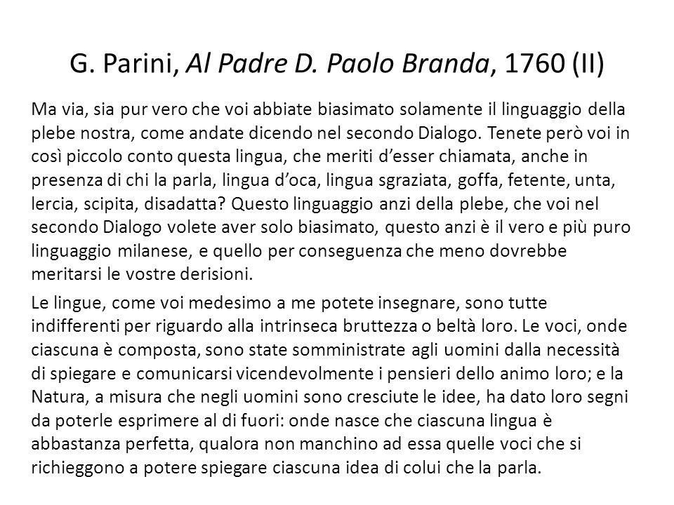 G. Parini, Al Padre D. Paolo Branda, 1760 (II)