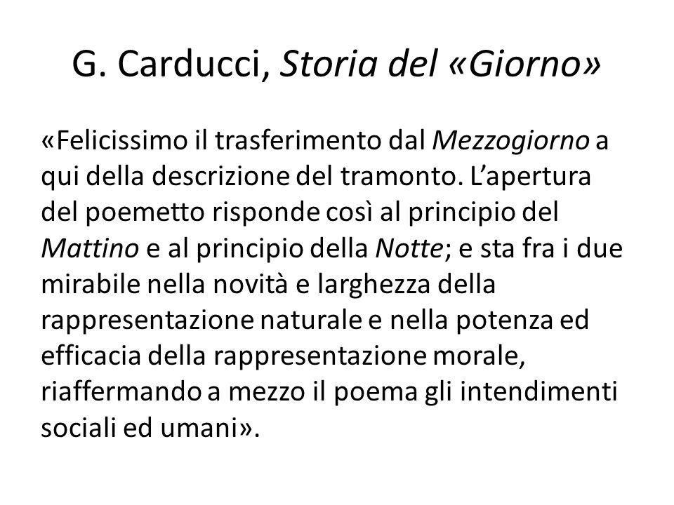 G. Carducci, Storia del «Giorno»