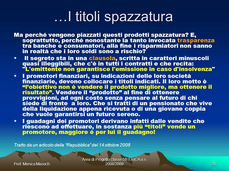 Area di Progetto classe 5B ERICA a.s. 2008/2009