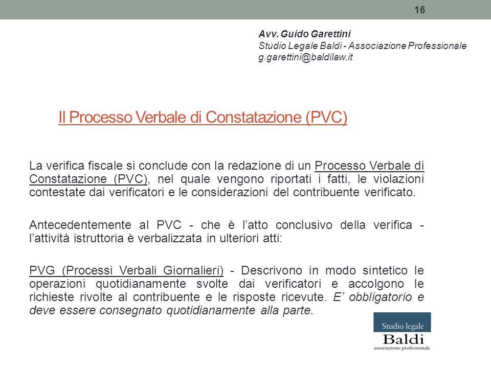 Il Processo Verbale di Constatazione (PVC)
