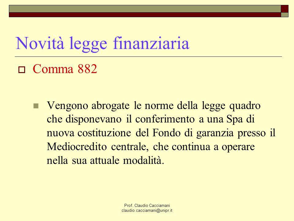 Novità legge finanziaria