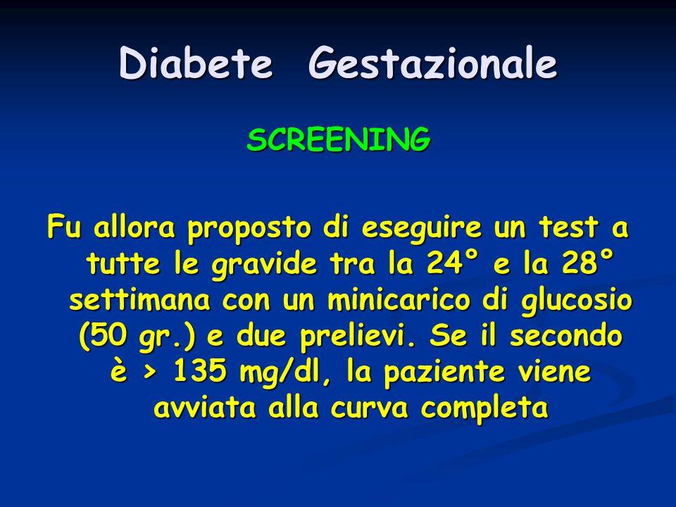 Diabete Gestazionale SCREENING