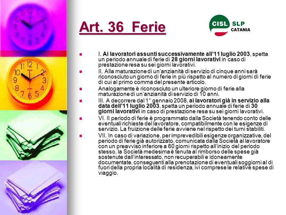 Art. 36 Ferie
