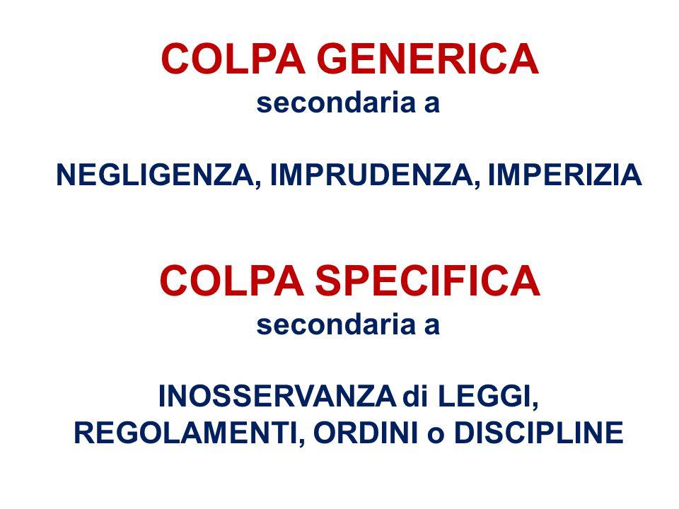 COLPA GENERICA secondaria a