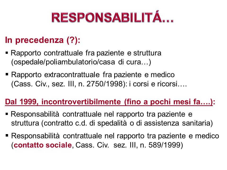 RESPONSABILITÁ… In precedenza ( ):