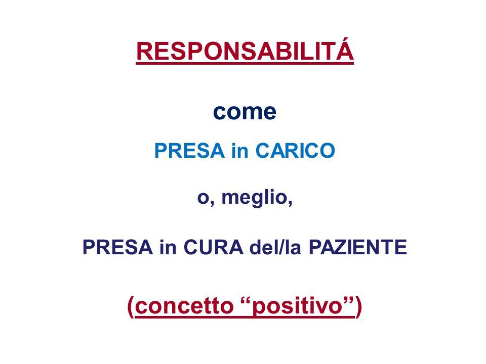 PRESA in CURA del/la PAZIENTE (concetto positivo )