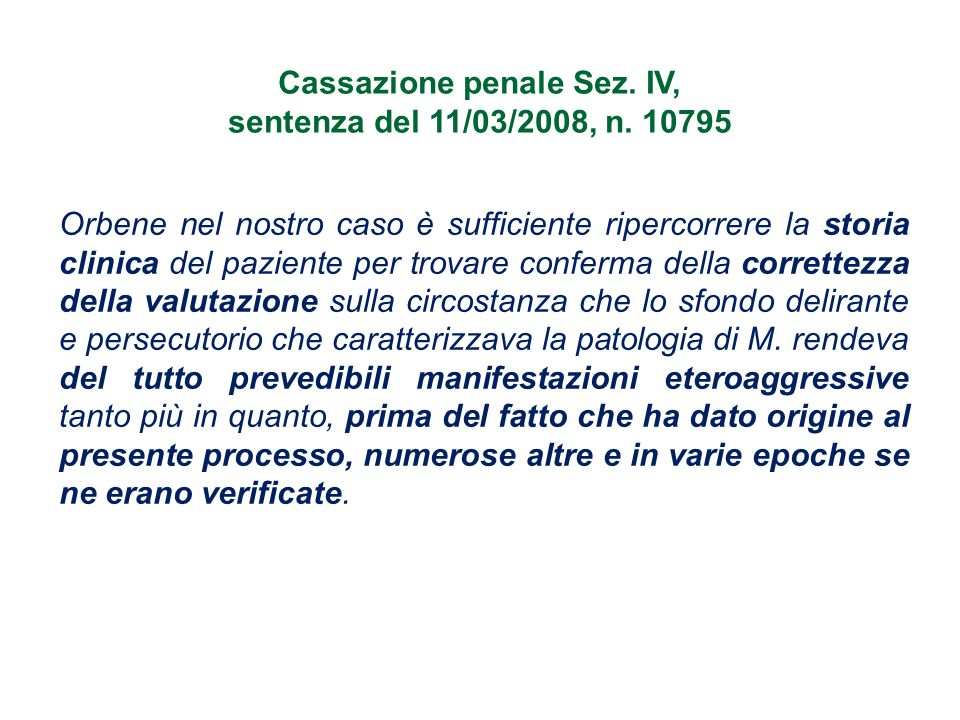 Cassazione penale Sez. IV,