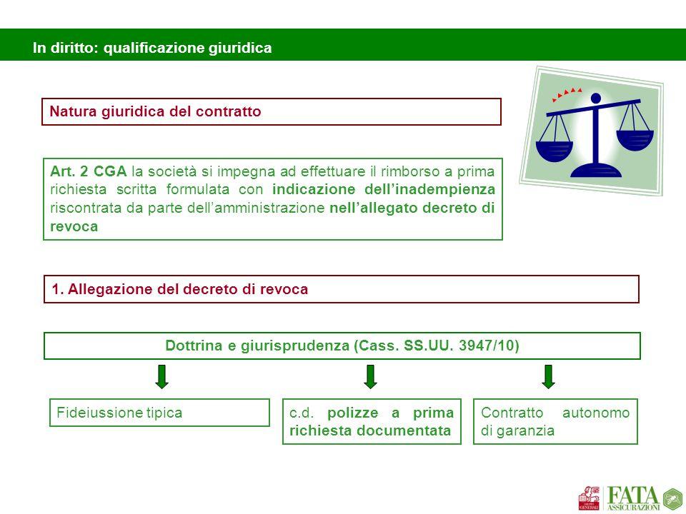 In diritto: qualificazione giuridica