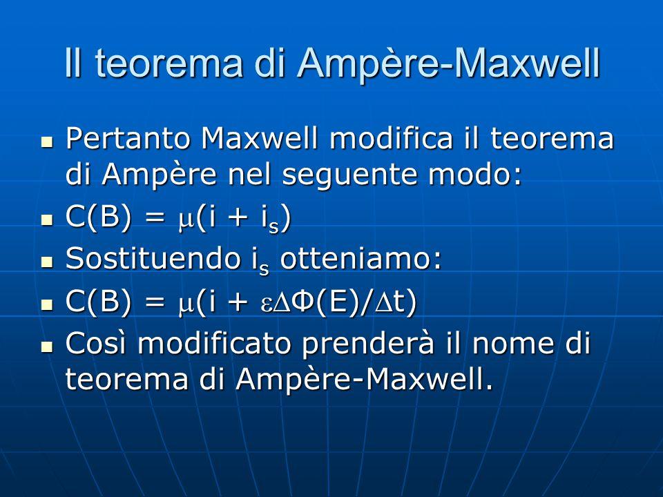 Il teorema di Ampère-Maxwell