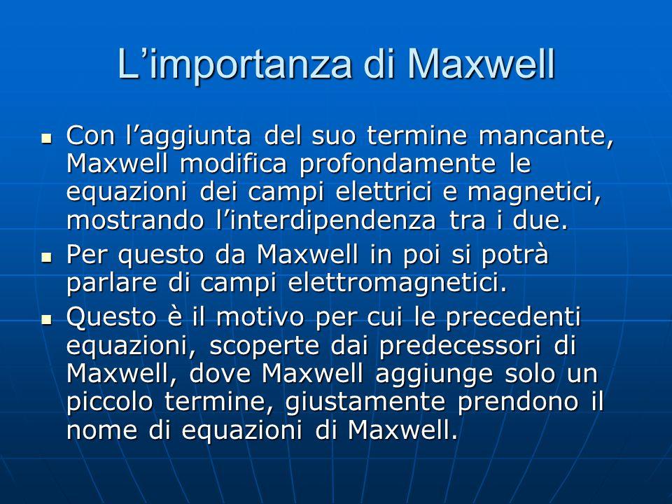 L'importanza di Maxwell