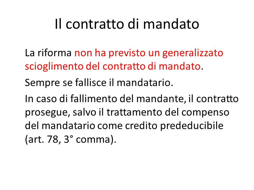 Il contratto di mandato