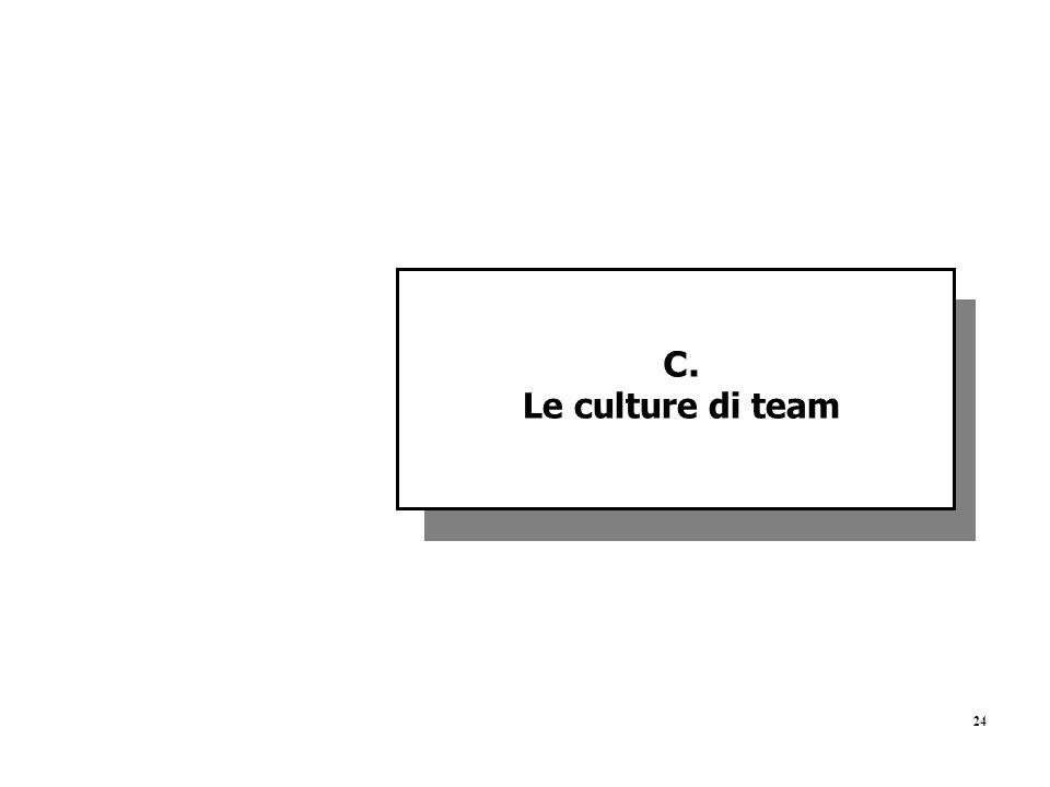 C. Le culture di team