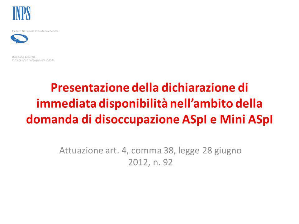 Attuazione art. 4, comma 38, legge 28 giugno 2012, n. 92