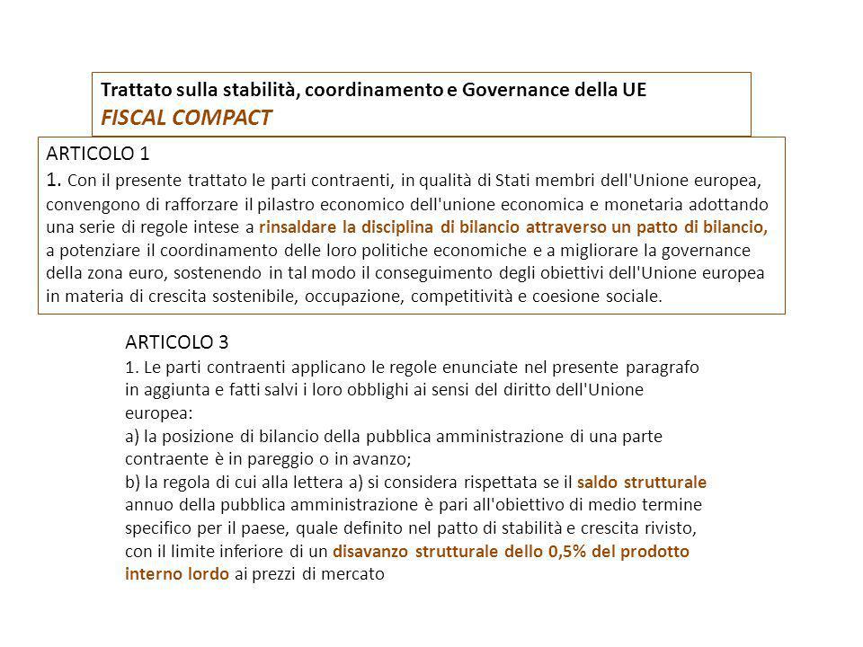 Trattato sulla stabilità, coordinamento e Governance della UE