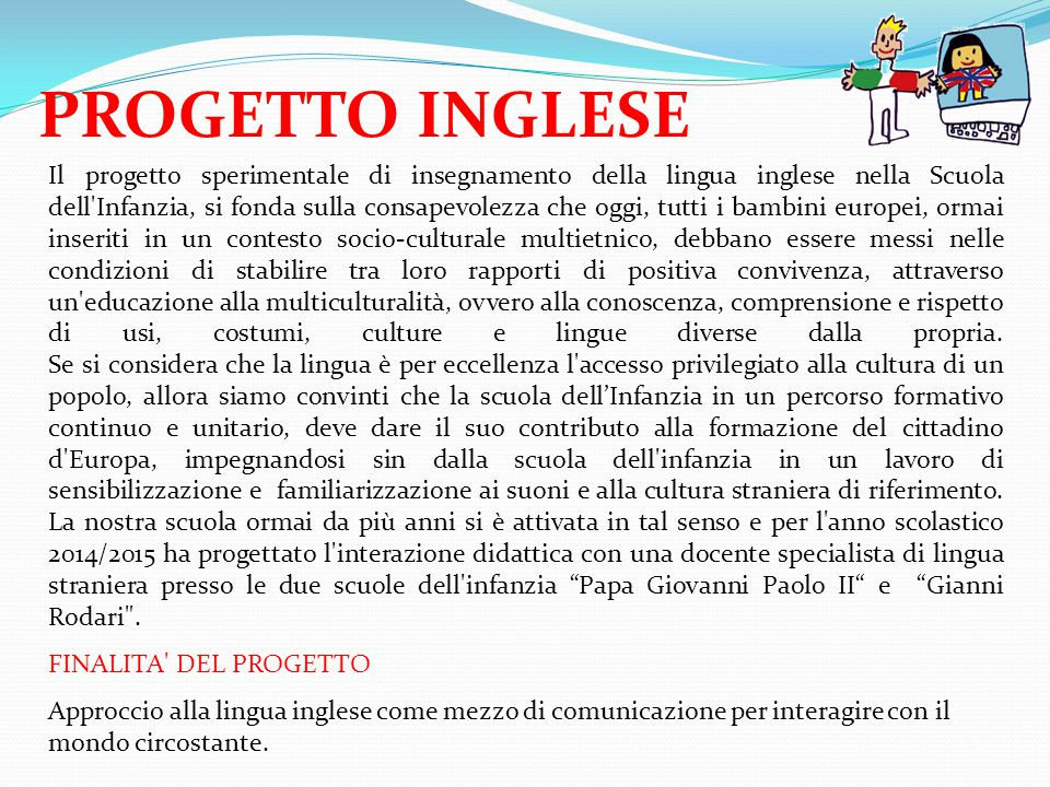 PROGETTO INGLESE