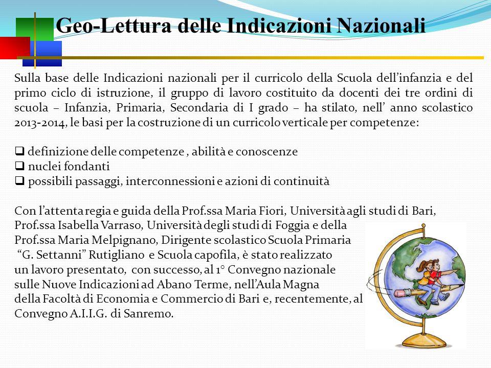 Geo-Lettura delle Indicazioni Nazionali