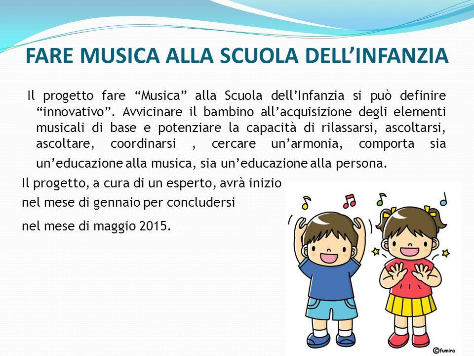 FARE MUSICA ALLA SCUOLA DELL'INFANZIA