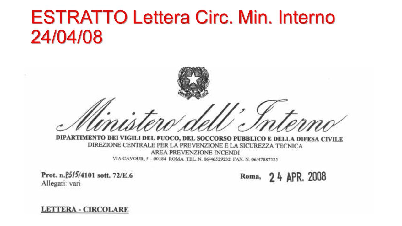 ESTRATTO Lettera Circ. Min. Interno 24/04/08