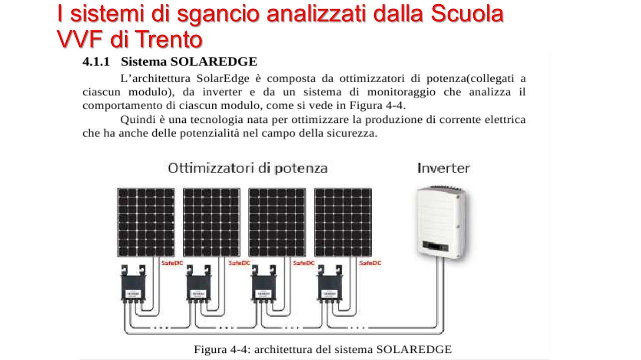 I sistemi di sgancio analizzati dalla Scuola VVF di Trento