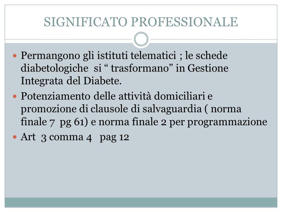 SIGNIFICATO PROFESSIONALE