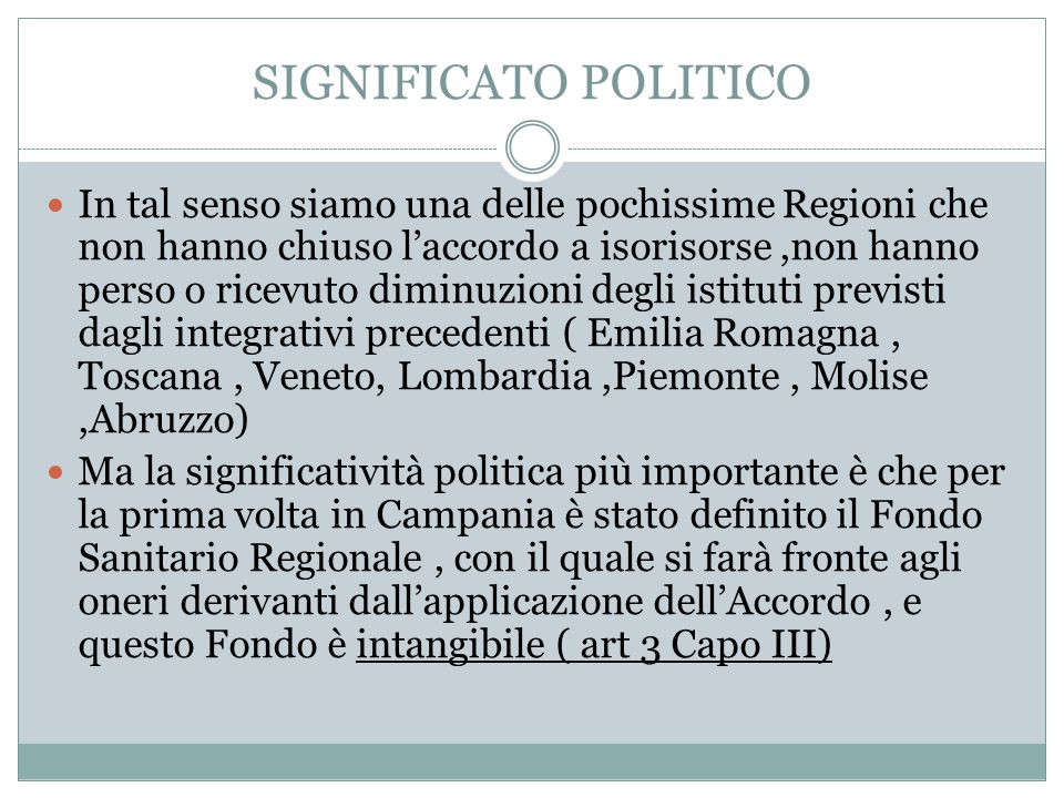 SIGNIFICATO POLITICO