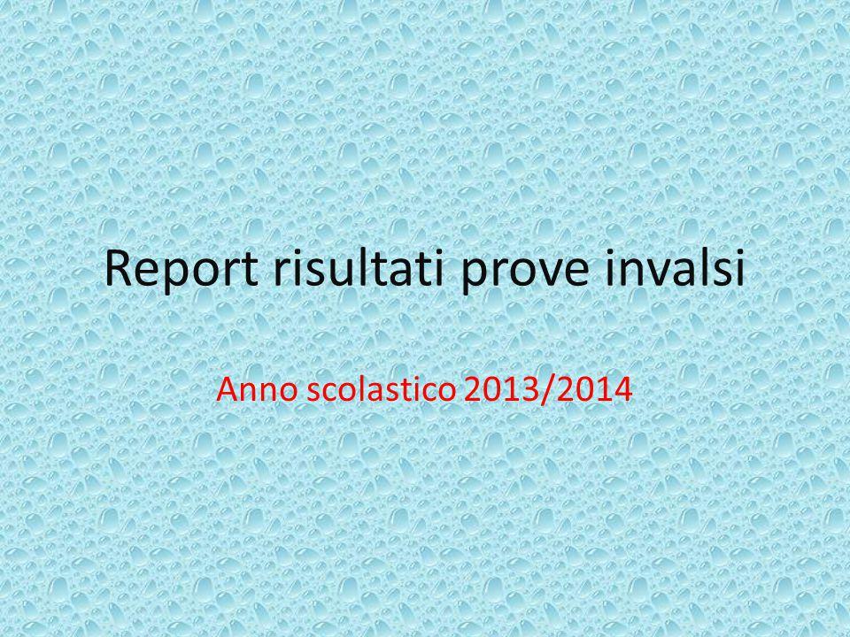 Report risultati prove invalsi