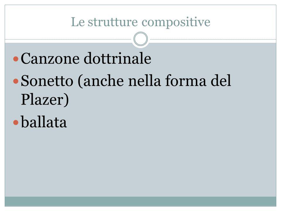 Le strutture compositive