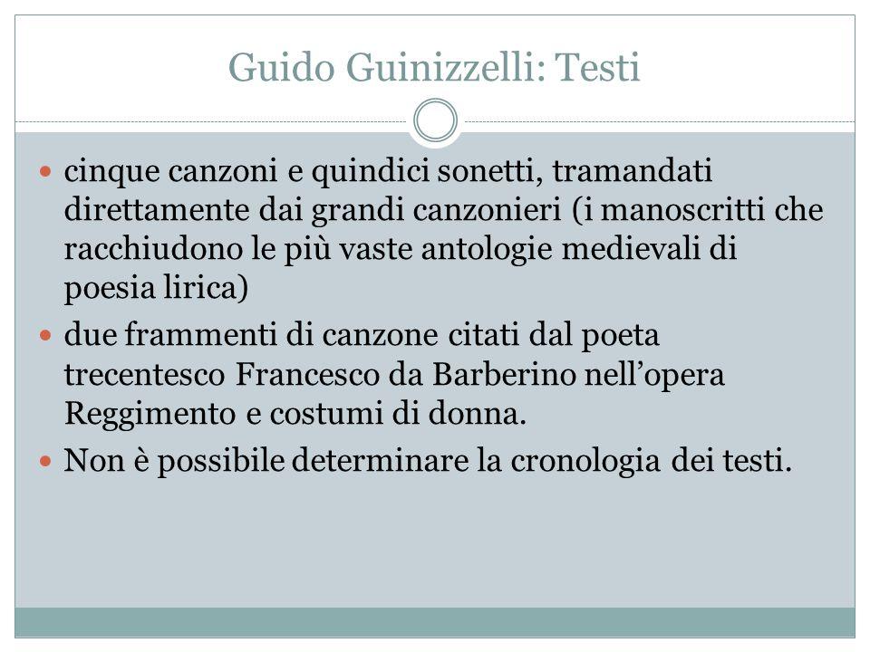 Guido Guinizzelli: Testi