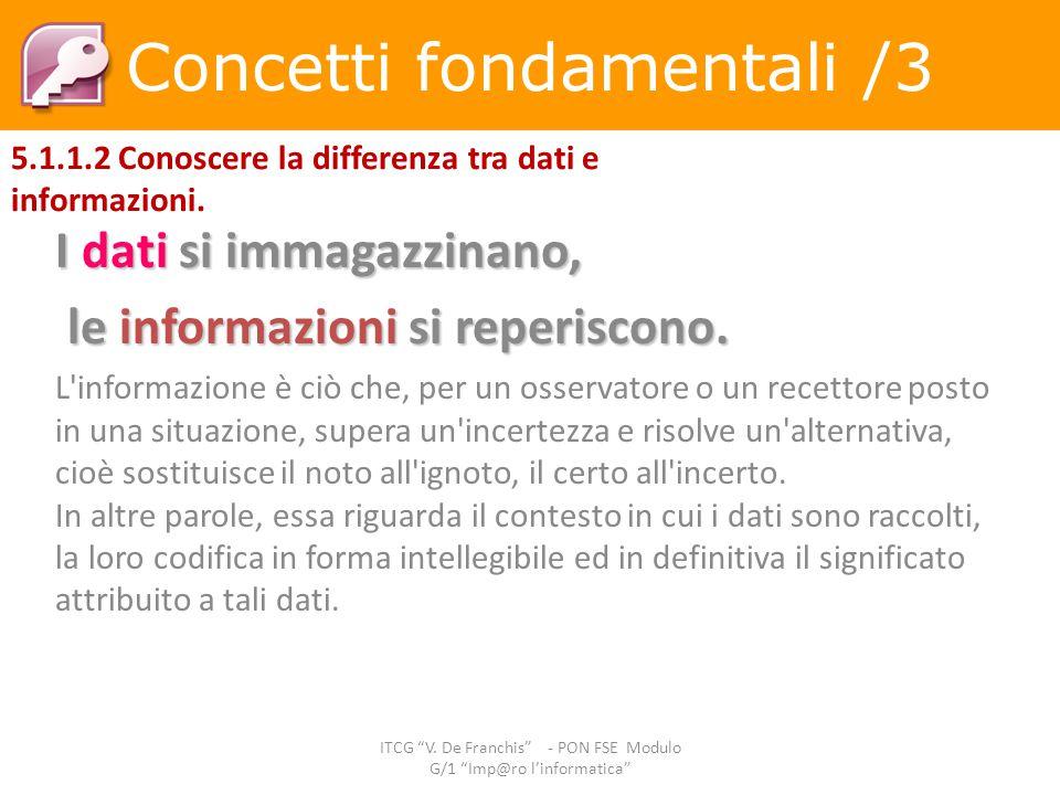 Concetti fondamentali /3