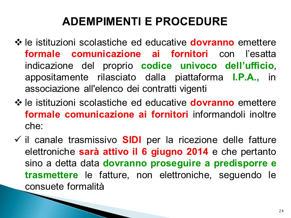 ADEMPIMENTI E PROCEDURE